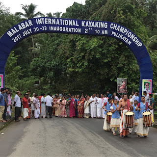 Malabar river festival or mrf18 inagurated at pulikayam, calicut kerala, international kayaking championship