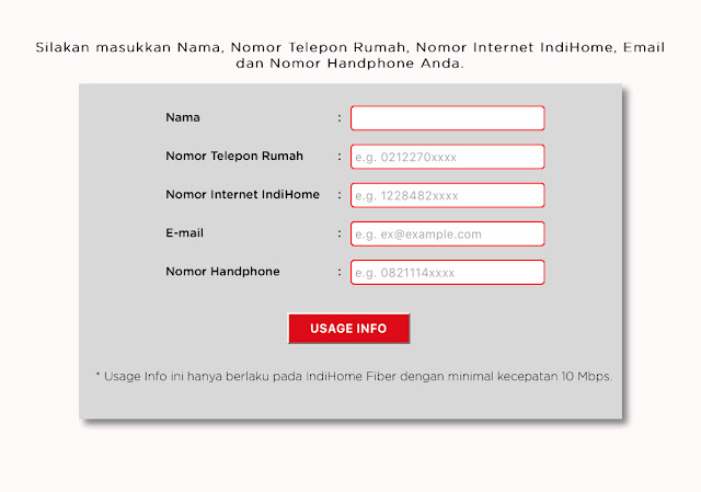 Cara Cek Pemakain Kuota Internet IndiHome dari website