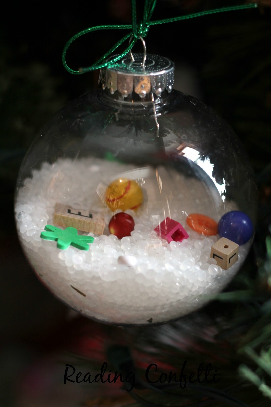 I Spy Christmas Ornaments: Kid-Made Gift ~ Reading Confetti