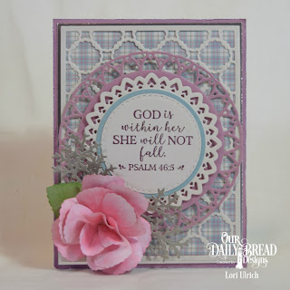 Our Daily Bread Designs Stamp Set: God Verses 2, Custom Dies: Filigree Circles, Circles, Double Stitched Circles, Scalloped Chain, Rose Leaves, Roses, Lovely Leaves, Paper Collection: Shabby Pastels