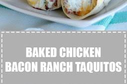 Chicken Bacon Ranch Taquitos