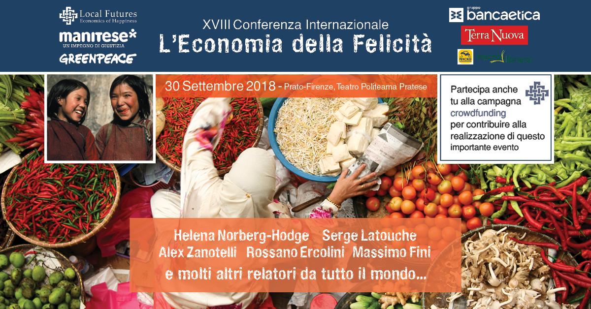 Risultati immagini per conferenza internazionale economia della felicità 2018