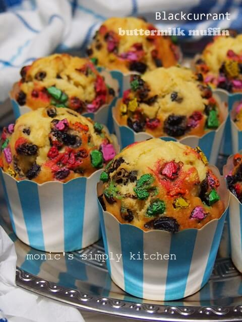 resep blackcurrant buttermilk muffin