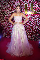 Hansika Motwani Sizzles in a Deep neck Sleevless Pink Gown at Zee Telugu Apsara Awards 2017 03.JPG