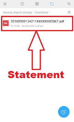 sbi statement download using sbi anywhere