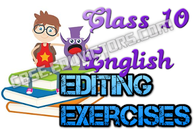 English Grammar - Editing Exercise-1 (#eduvictors)(#cbsenotes)