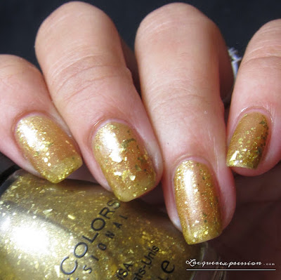 nail polish swatch of Gold a la Mode by sinfulcolors