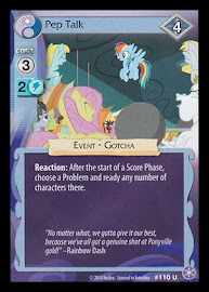 My Little Pony Pep Talk The Crystal Games CCG Card