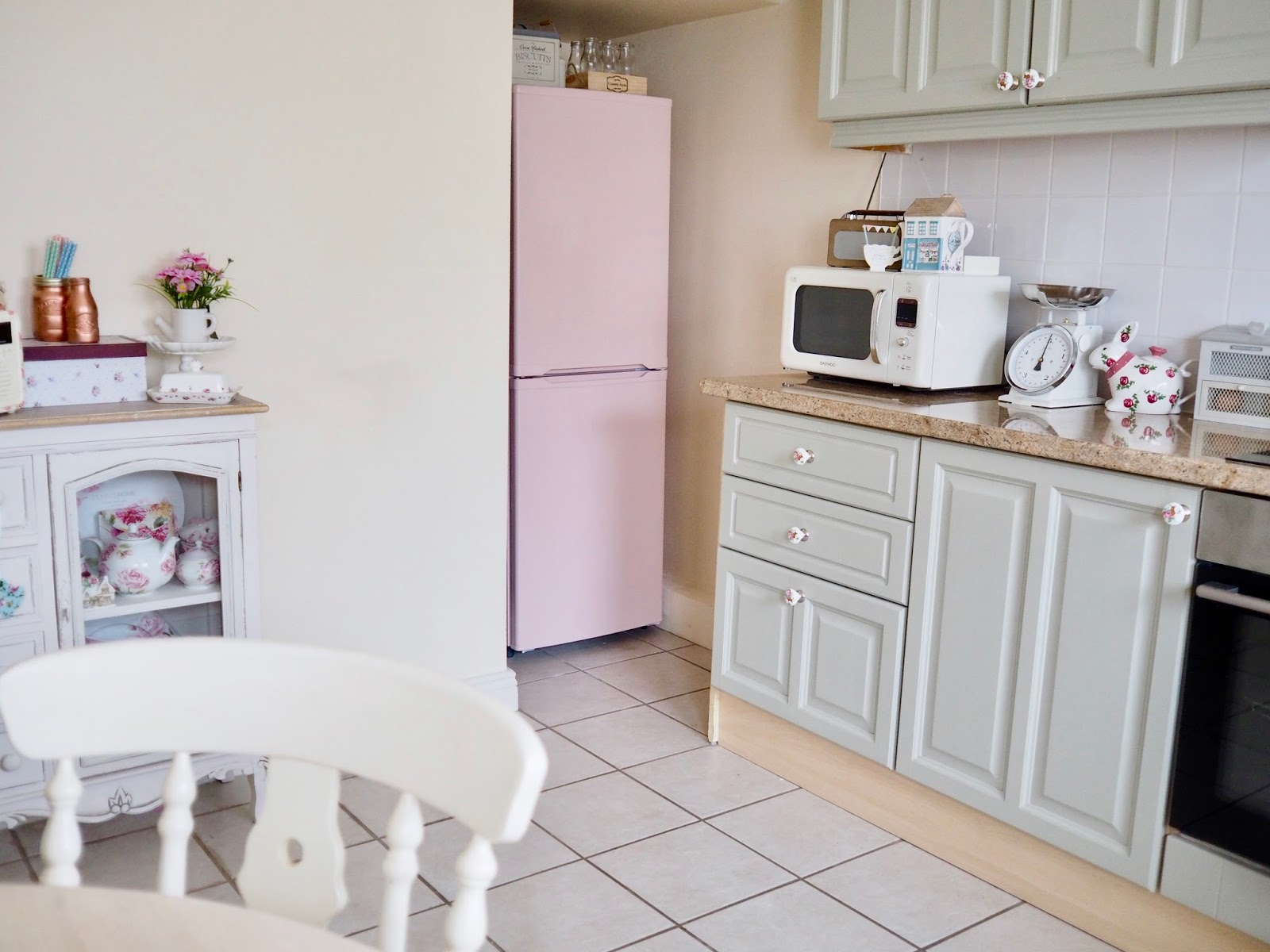 Pink Kitchen Paint How To Paint Your Fridge Dainty Dress Diaries