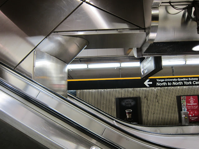 Escalator at Sheppard-Yonge subway station