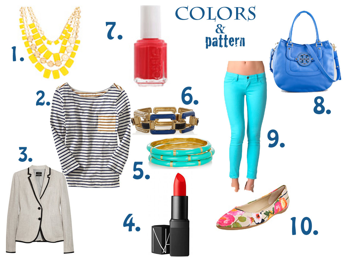 Living Notes From Nyc Let S Go Shopping Colors And Patterns