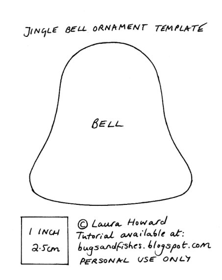 felt bell ornament template