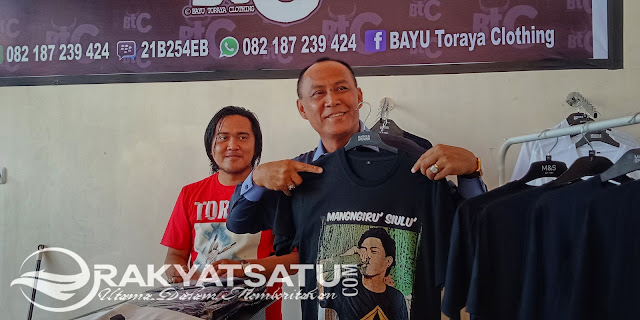 Hasil Karya Anak Muda Toraja Ini Miliki Kualitas Jempolan, Wabup Victor Langsung Borong Baju