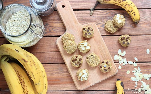 Gesunde Cookies mit nur zwei Zutaten [Banane+Haferflocken]
