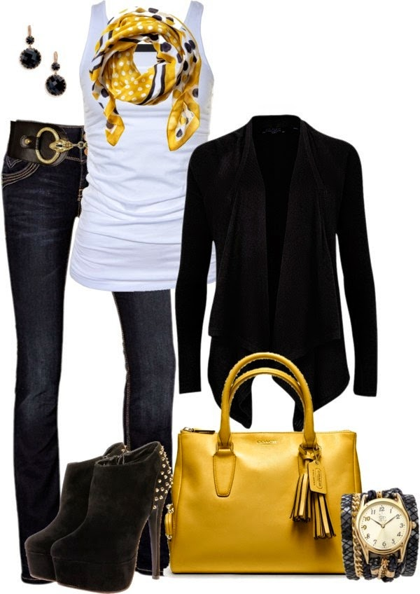 5 Casual Fall Polyvore Combinations