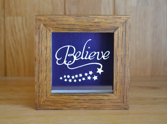 Believe in Christmas Papercut
