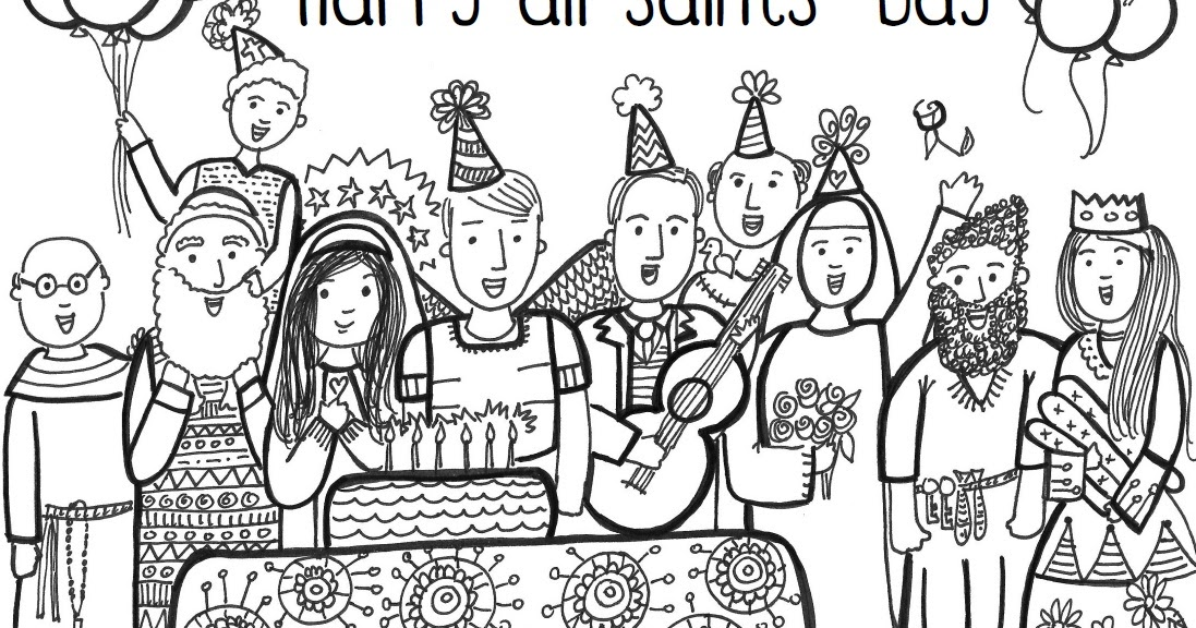 Paper Dali Free All Saints Day Coloring Page