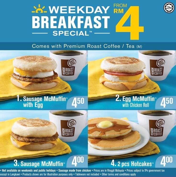 Mcd Menu Malaysian Breakfast