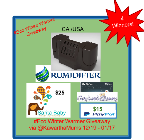 Enter the Rumidifier Winter Warmer Giveaway. Ends 1/17