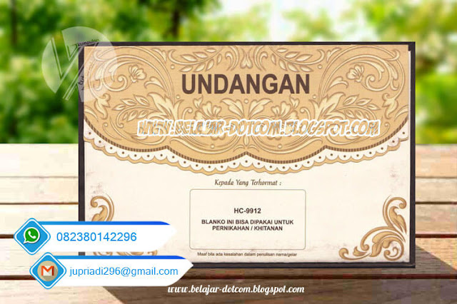 Download Surat Undangan Pernikahan ERBA Semi-Hard Cover HC-9912