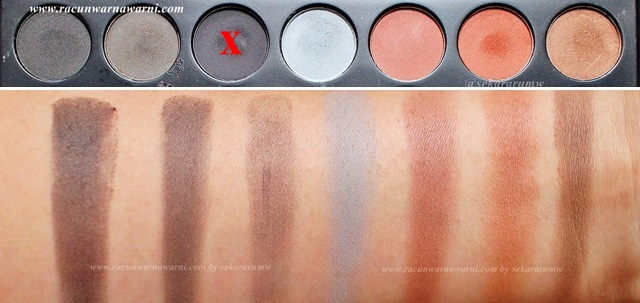 Swatch Morphe Eyeshadow Baris 1