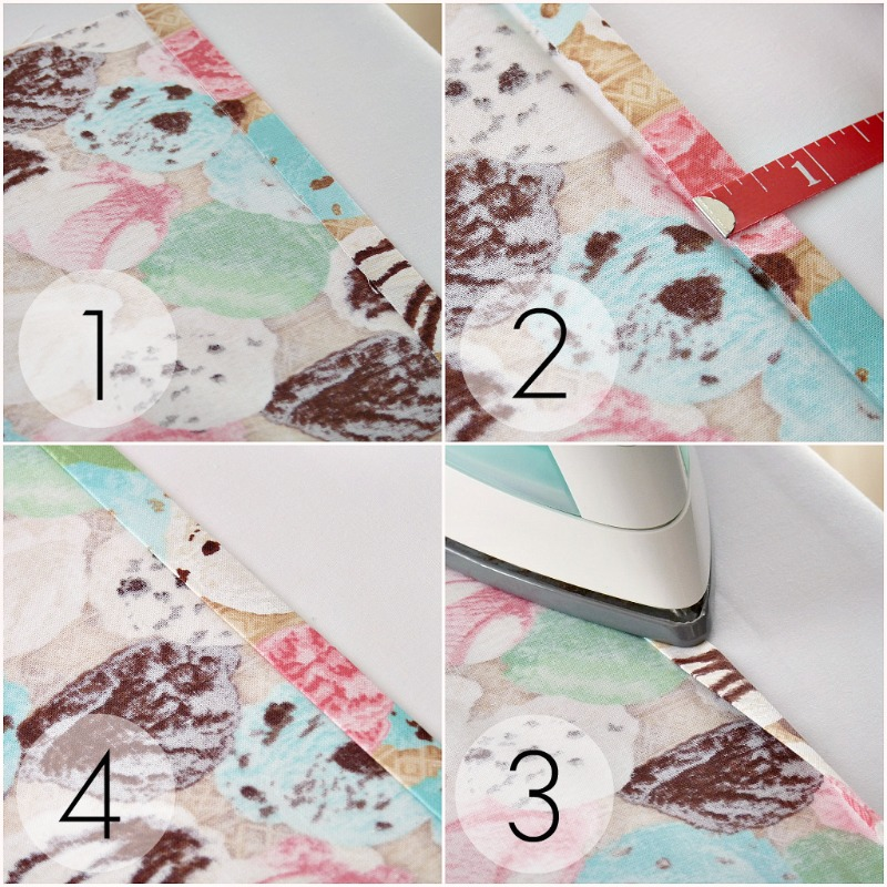 How to sew the edge of fabric // How to make a hem