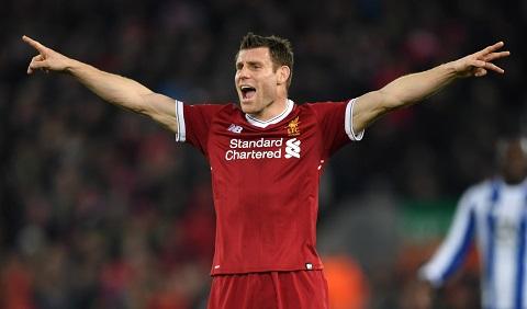 James Milner trở thành trung tâm ở Liverpool