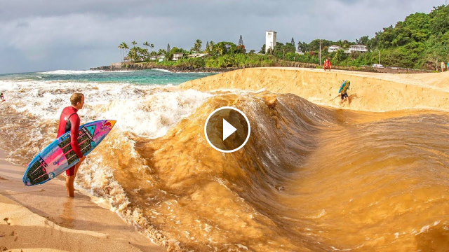 HAWAII RIVER SURFING WAIMEA