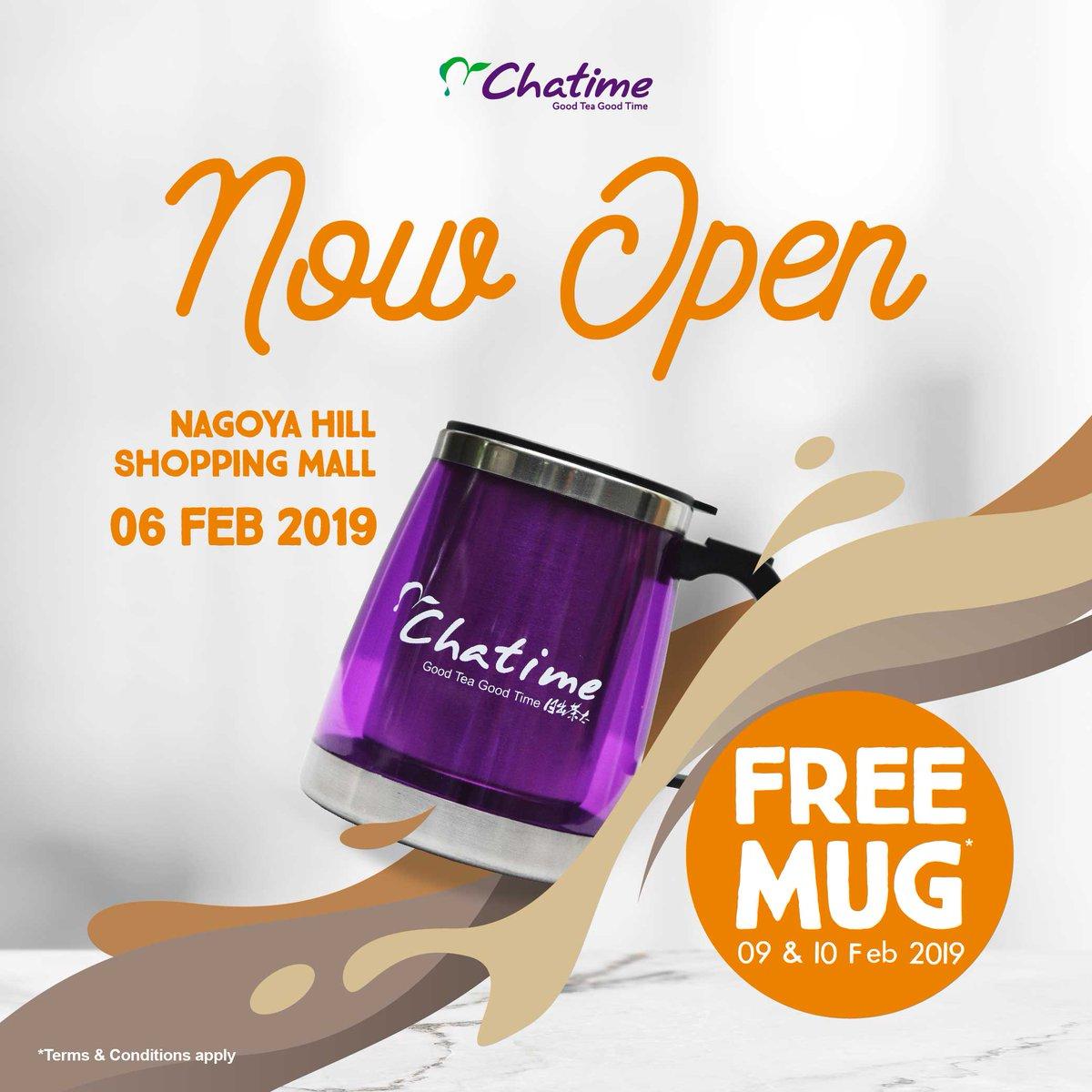 #Chatime - #Promo Opening Batam & Bandung Buy 1 Get 1 Free (s.d 10 Feb 2019)
