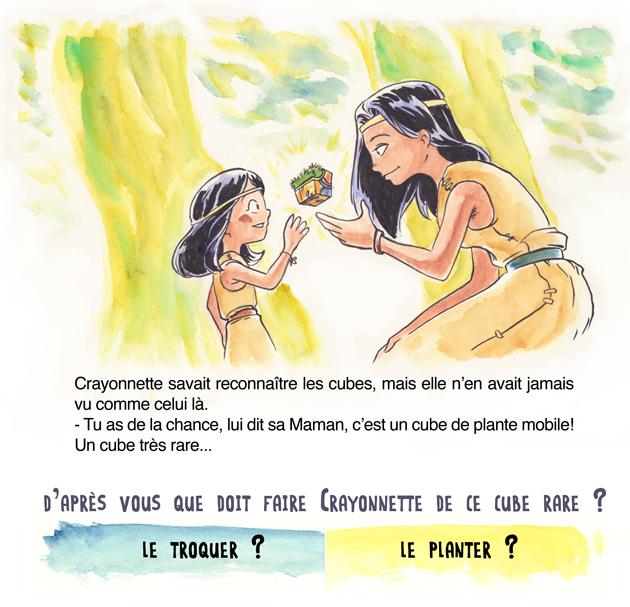 conte jeunesse crayonnette cube magique plante collaboratif Le Pueblo