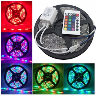 Lampu Led strip Warna 5 Meter + remot