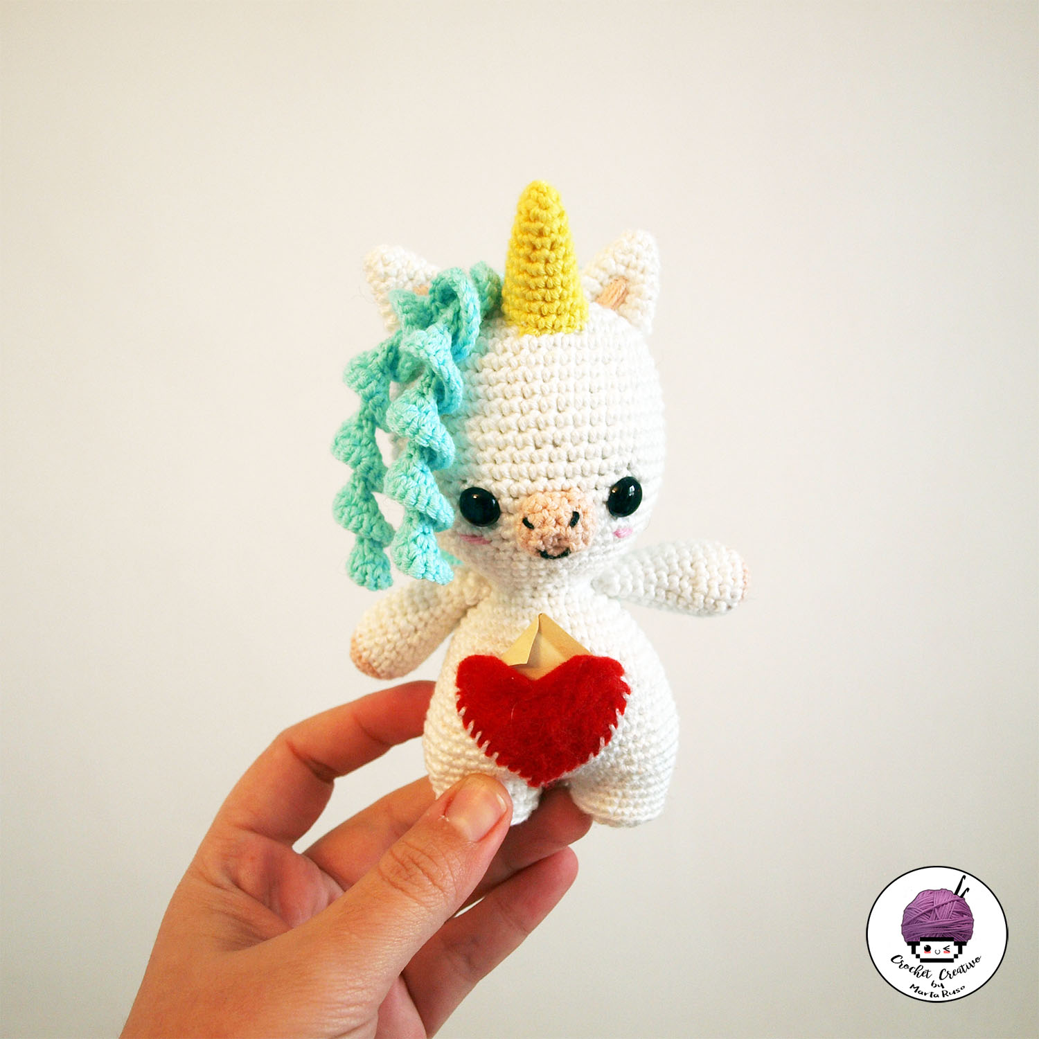 Marta Ruso Crochet Creativo: Aura the little Unicorn - Aura la ...