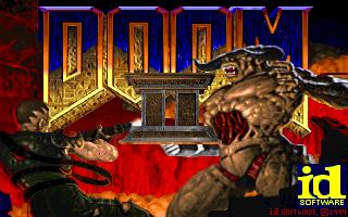 Doom 2 title screen dos