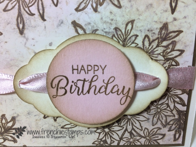 Awesomely Artistic, Beautiful Bouquet, Stampin'Up!, Tip to Thread ribbon, Frenchiestamps,