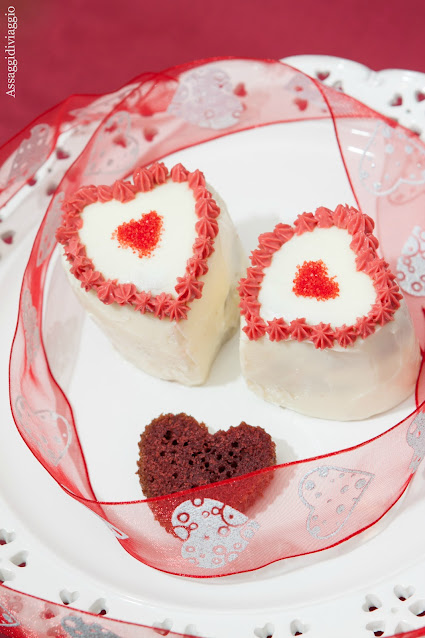The red velvet heart cake