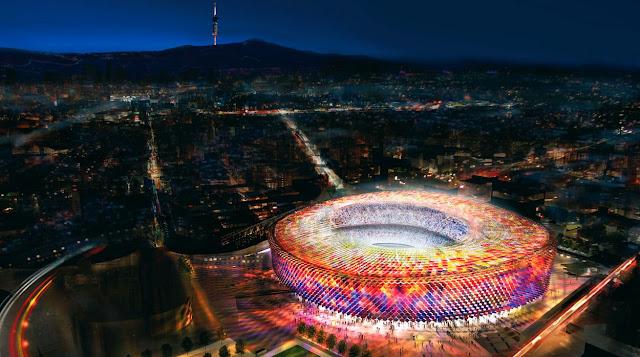desain terbaru camp nou stadium barcelona