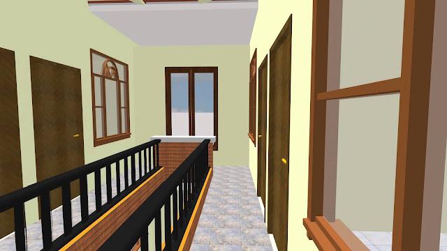 Rumah Kontrakan 20 Kamar 2 Lantai