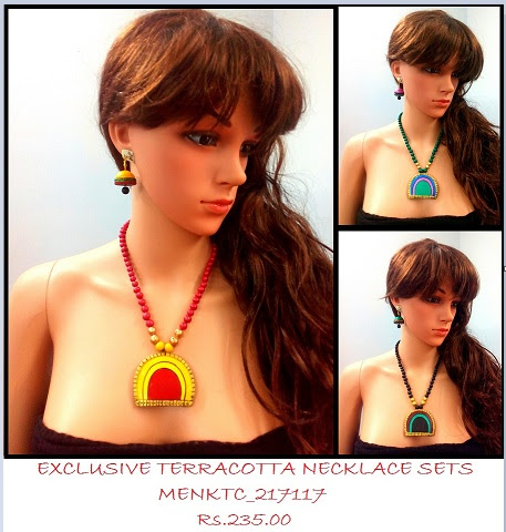 Terracotta Necklace sets amazing intricate shapes
