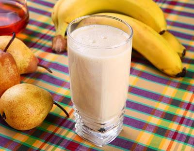 Vitamina de Banana e Pera (vegana)