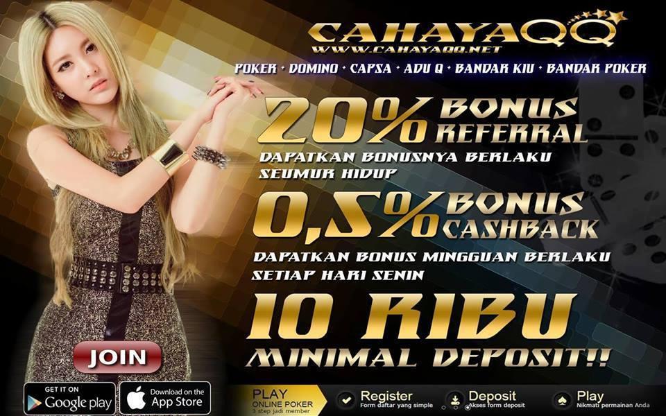 CAHAYAQQ.COM AGEN JUDI POKER DAN DOMINO UANG ASLI ONLINE TERPERCAYA INDONESIA