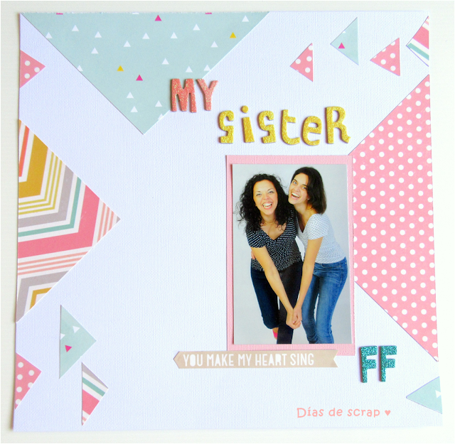 scrap scrapbooking layout LO geometrico retos