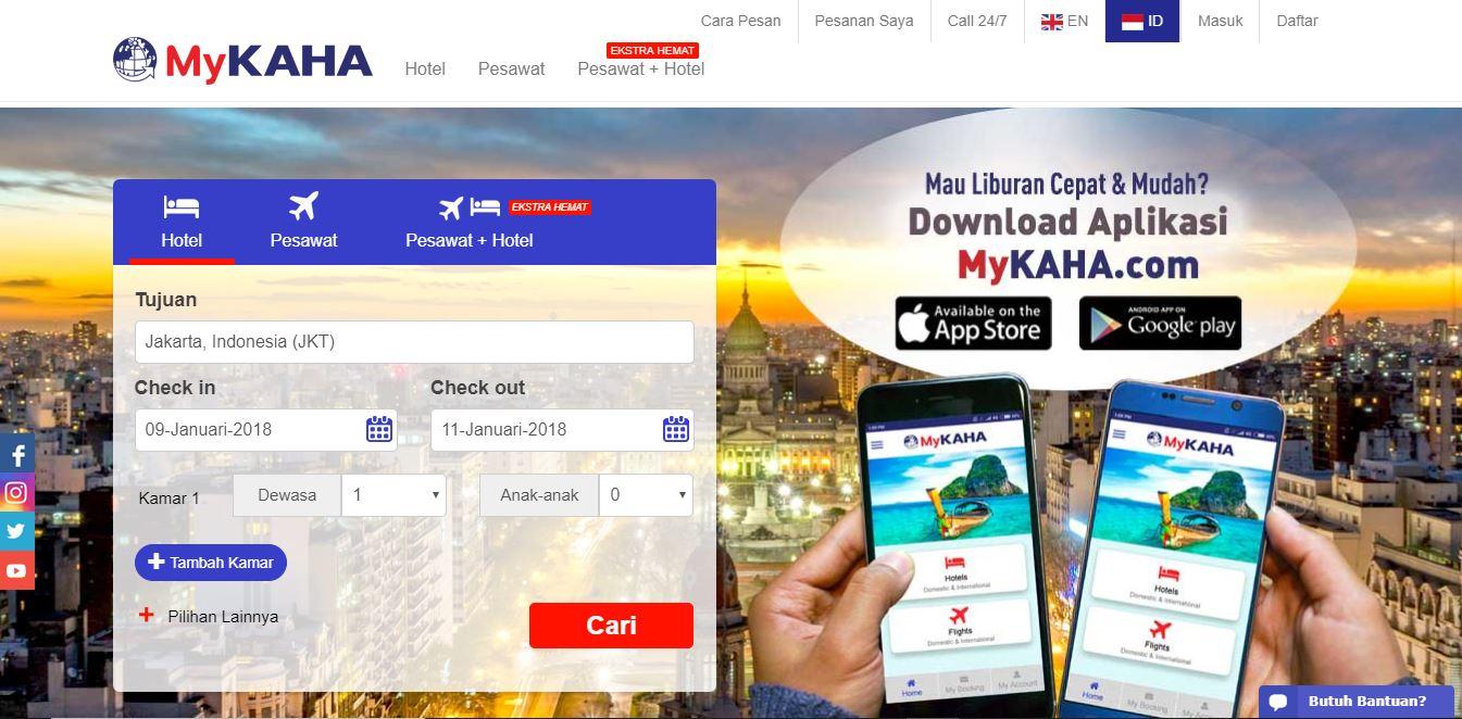 Mykaha merupakan situs online untuk reservasi hotel dengan konfirmasi  pemesanan yang instan. Yang menarik di Mykaha tersebut adalah mereka  menjanjikan kamar ... eb36f0463d
