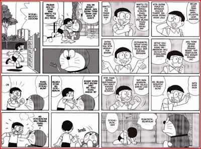 contoh komik doraemon