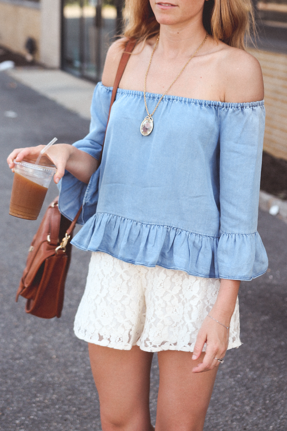 zara off the shoulder blouse, lace shorts, long beach ny fashion, nyc fashion blog, fashion bloggers nyc