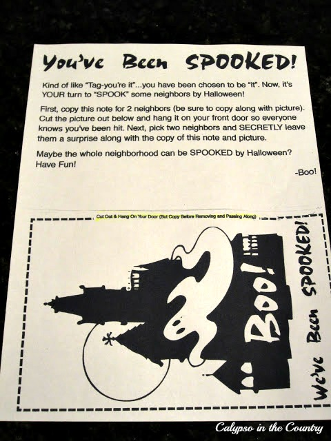 You've Been Spooked - a great neighborhood tradition for kids and adults