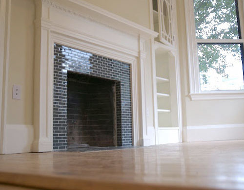 Fiore interiors notes from a maine interior designer - Tiling a brick fireplace ...