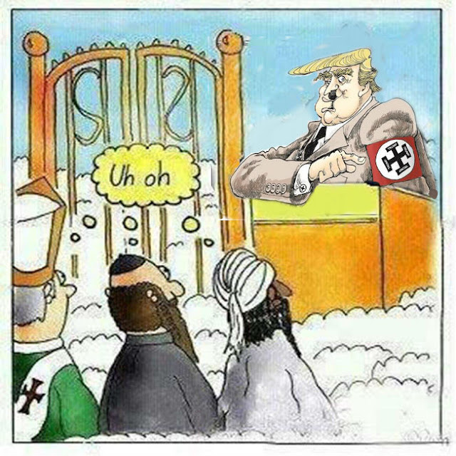 Trump Heaven Cartoon Picture