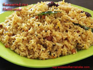 Tamarind rice or huliyanna recipe in Kannada