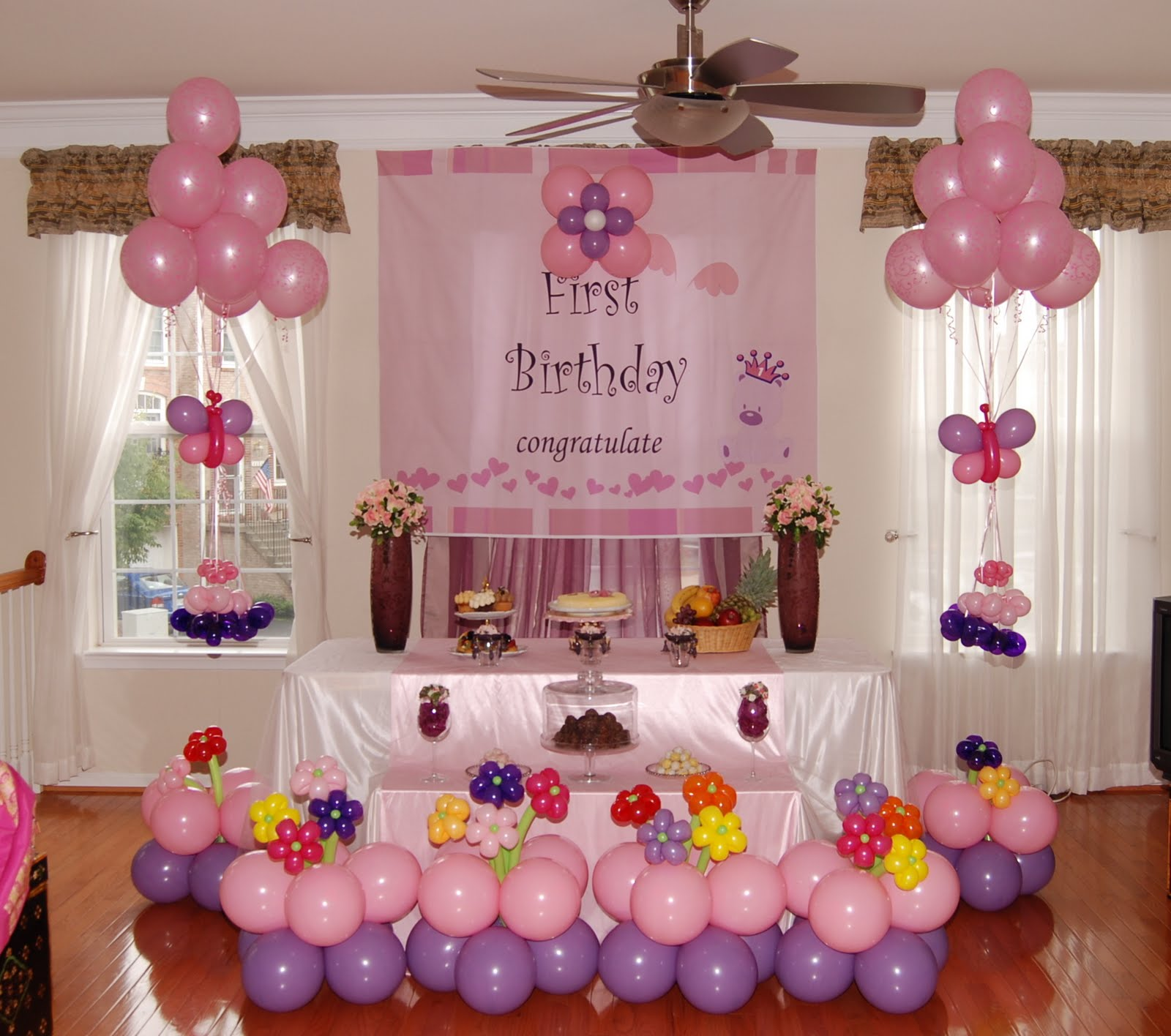 Simple Cake Table Decorations For Birthday