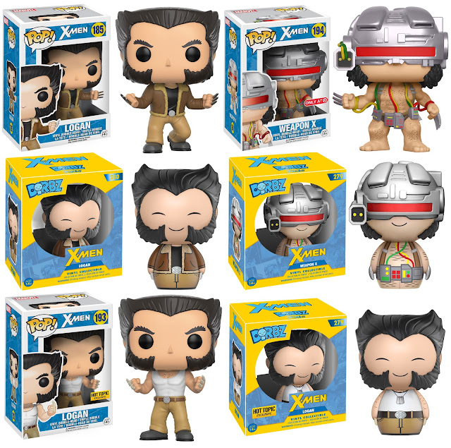 X-Men Wolverine Logan & Weapon X Pop! Marvel & Dorbz Vinyl Figures by Funko